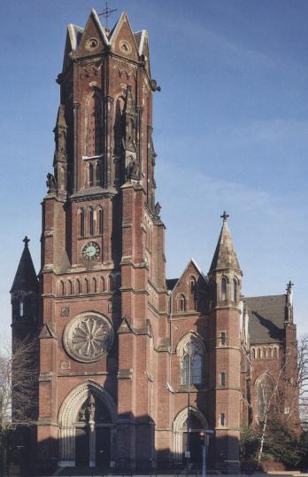 Frontansicht Grabeskirche Aachen