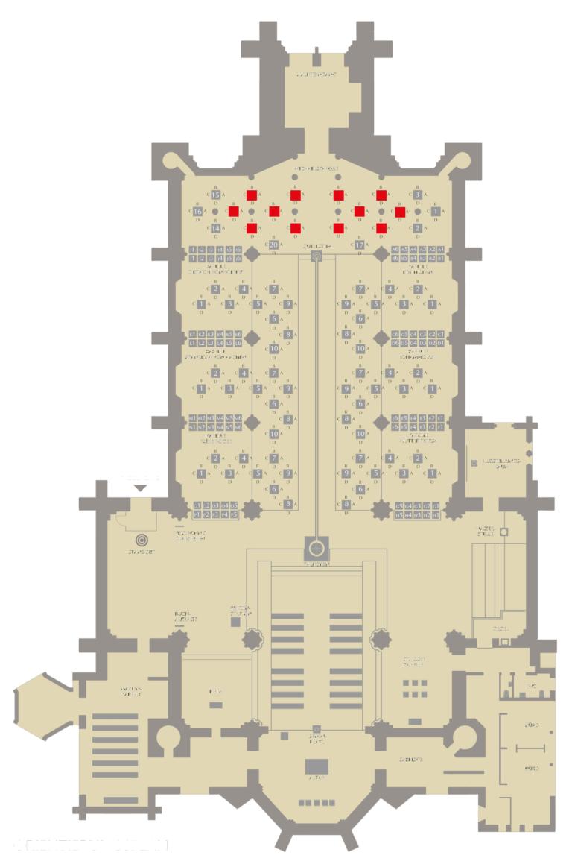 Gebühren-Kategorie III Standort der Stelen
