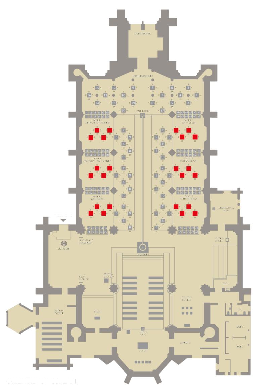 Gebühren-Kategorie IV Standort der Stelen